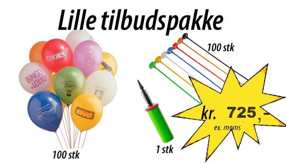 stor ballonpakke
